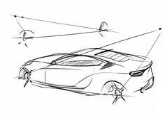Quick car sketching technique