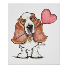 Shop Basset Hound Heart Balloon Poster created by offleashart. Personalize it with photos & text or purchase as is! Dog Lover Gifts, Dog Lovers, Hounds Of Love, Pet Paradise, Cartoon Sketches, Dog Sketches, Bassett Hound, Heart Balloons, Funny Animal Memes