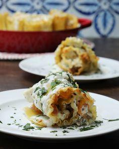Butternut Squash & Sausage Lasagna Roll-Ups