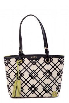 """From work to weekend and everything in between, our mid-size Island Tote is ready to go. Very versatile, this day tote features a zipper-top closure and a dash of organization inside with one zip and two slip pockets. And, of course, we've added our special Spartina touches, like our golden logo, mermaid feet and beautiful hanging leather tassel.    Dimensions:Width: 13.5"""";Height: 9.75"""";Depth: 5"""";Handle Drop: 9.5""""   Island Tote by Spartina 449. Bags - Totes Miami, Florida"""