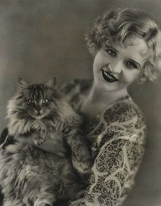Phyliss Haver..circa 1920s Beautiful cat...