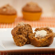 Sweet Potato Cinnamon Muffins with Brown Sugar. Unbelievably moist and tender. #fall #winter #breakfast