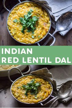 Red Lentil Dal is the perfect plant-based Indian meal! Rich fragrant and packed with protein for a meal you can feel good about. Red Lentil Dahl Recipe, Indian Dal Recipe, Red Lentil Recipes, Veggie Recipes, Indian Food Recipes, Ethnic Recipes, Indian Snacks, Bean Recipes