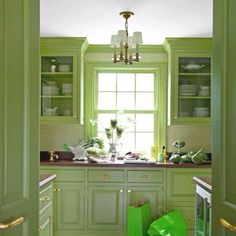 Not sure if I would like a yellow or green kitchen.. maybe some of both!