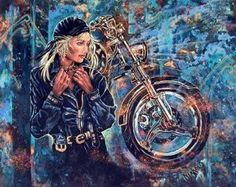 Art of the lady biker