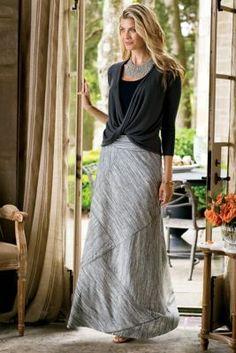 Angles Away Skirt - Women's Maxi Skirt, Angled Maxi Skirt | Soft Surroundings