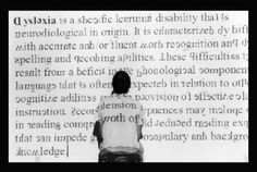 Interesting conceptual art visualizing dyslexia