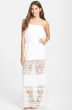 6 SHORE ROAD by Pooja 'Choarlotte' Strapless Maxi Dress available at #Nordstrom