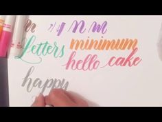 Tutorial: How to Use Regular Crayola Markers to Write Modern Brush Calligraphy - YouTube --- This is a super useful video for doing brush pen calligraphy without brush pens!!