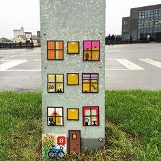 Apartment building - Hama perler street art (photo by Annette Drastrup)