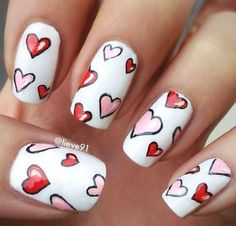 These Valentine's Day nail designs are so pretty!