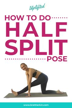 Half Split Pose (Ardha Parsvottanasana) is a great warm-up posture for runners. It stretches the hamstrings and opens the hips. #yoga #yogaposes #halfsplitpose #ardhaparsvottanasana Yoga Mantras, Yoga Quotes, Become A Yoga Instructor, Yoga Sequence For Beginners, Home Yoga Practice, Yoga Props, Easy Yoga Poses, Yoga At Home, Yoga Photography