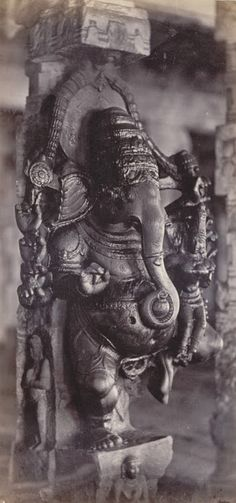 Lord Ganesha Meenakshi Amman Temple, Madurai, Tamil Nadu, India 1858 (via merepix.com)