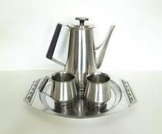 Vintage Coffee Serving Set International Stainless by BeeHavenHome