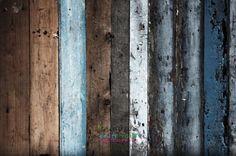 5x7 Blue Wood Floord