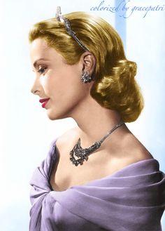Grace Kelly colorized