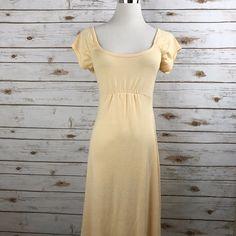 Michael Stars Dress Empire Waist Cap Sleeves Lt Peach One Size 0-12  EUC USA #ZARA #EmpireWaistShift #Casual