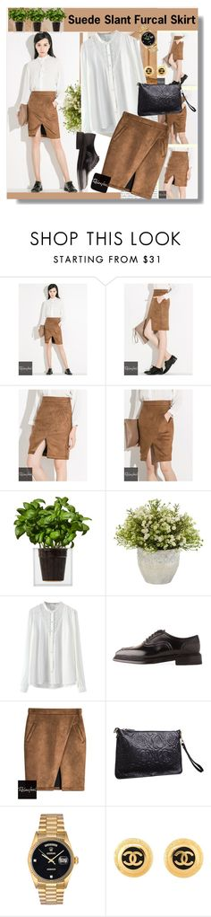 """""""FEATURED OUTFIT BY RELAXFEEL"""" by relaxfeel ❤ liked on Polyvore featuring Relaxfeel, Boskke, Nearly Natural, Le Yucca's, Rolex and Chanel"""