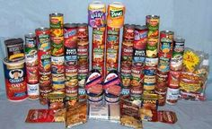 A 30-Day Emergency Food Supply For One Adult, my son will be happy to see that spam is on the menu