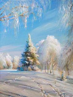 Сказочная русская зима в работах художника Романа Романова