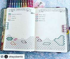 @ohayobento has the most brilliant ideas. These gorgeous pages represent…