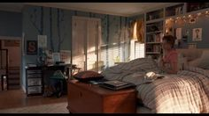 the fault in our stars. Love her bedroom, think i'm gonna paint the blue trees in my own bedroom.