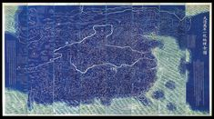 A jaw-dropping blue: our highlight of the Frieze Art Show 2015 was a Blue Map of China (= the World) by Daniel Crouch Rare Books, 1811 - Anything Blue