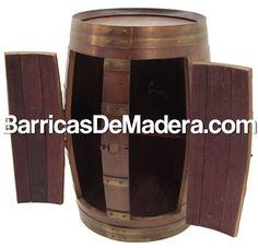 barrica armario botellero realizado a partir de barricas de madera de roble usadas original furniture