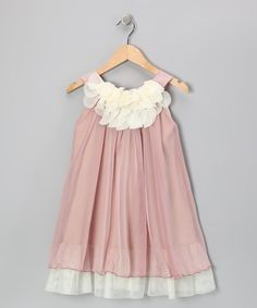 Take a look at this Pink & White Floral Yoke Dress - Toddler & Girls by Kid's Dream on #zulily today!