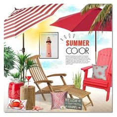 """""""Summer Color"""" by justlovedesign ❤ liked on Polyvore featuring interior, interiors, interior design, home, home decor, interior decorating, Pier 1 Imports, DutchCrafters, Skagerak and Nearly Natural"""