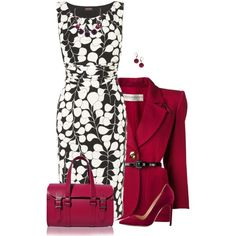 A fashion look from November 2014 featuring Phase Eight dresses, Yves Saint Laurent blazers and Manolo Blahnik pumps. Browse and shop related looks.