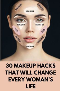 Makeup takes up a lot of time and therefore some people are fed up it. However, there exists a list of techniques and hacks that will allow you to cover your makeup in the least amount of time and also keep you look stunning. Eyebrow Makeup Tips, Beauty Makeup Tips, Contour Makeup, Skin Makeup, Makeup Hacks, Eyeliner Hacks, Face Contouring, Hair Hacks, Beauty Hacks