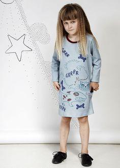 Nordinary | Modeerska Huset Dogy Dress | Modeerska Huset | robe | renard | vêtements pour enfants | bébé | bb | mode enfantine | cadeaux de naissance | scandinave | suède | Modeerska Huset | Nordinary |