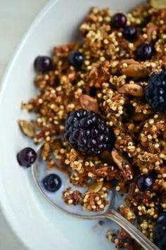 crunchy pumpkin quinoa/home made granola