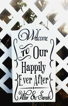 20 Tall Personalized Wedding Sign. Welcome To by TheMemoryChest, $59.99