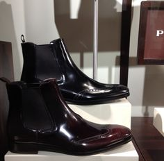 Serious men's #boots! #prada I like these on a man.