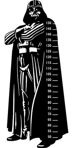 Vinilo infantil medidor de Darth Vader
