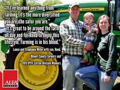 Lance and Stephanie Miller with son, Reed, 2013 OYFF Cotton Division Winners.