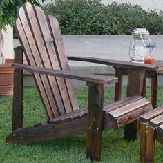 Westport Indoor/Outdoor Adirondack Chair in Burnt Brown