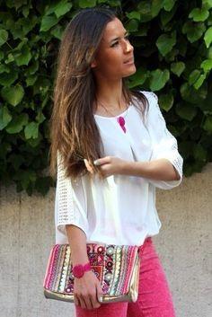 """María Gaviña from """"BlogLBD"""" wearing our Bouganvilles Collection!"""