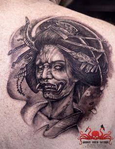 Hannya Tattoo by Mehdi Rasouli broken tooth tattoos Dali Tattoo, Fox Tattoo, Lotus Tattoo, Hannya Tattoo, Yakuza Tattoo, Fresh Tattoo, Tattoo Simple, Tooth Tattoo, Japan Tattoo Design