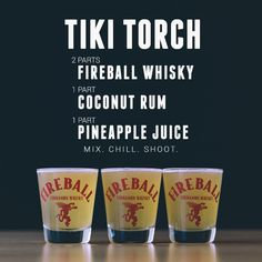 Fireball Whisky- TIKI TORCH recipe