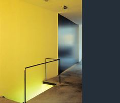 Acid yellow wall - quite like this. Black and yellow are always a winner!