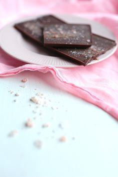 ... raw rose chocolate with rose salt ...