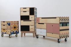 modular furniture Play Play Pattern is is a modular storage concept made from Birch Plywood finished in natural oil and is the result of a design . Multipurpose Furniture, Modular Furniture, Plywood Furniture, Repurposed Furniture, Cheap Furniture, Furniture Plans, Rustic Furniture, Kids Furniture, Furniture Makeover