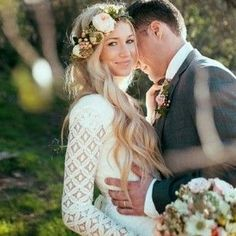 Whether you choose to have your hair up or down. | All The Boho Wedding Inspiration You Could Possibly Need