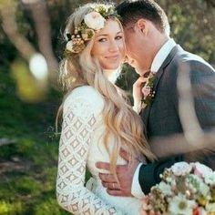 boho wedding hair down - Sök på Google
