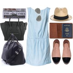 requested: airport outfit, created by hellotia on Polyvore