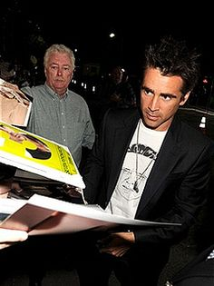 Celebrity of the Day: Colin Farrell signing silent auction items Charity Fundraising Packages by Charity Fundraising Packages www.charityfundra...