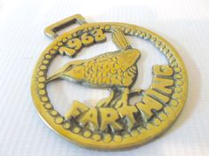 Vintage English Brass Horse Medal 1963 Farthing by Retromagination